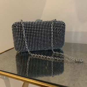 Bebe Diamond Encrusted Clutch